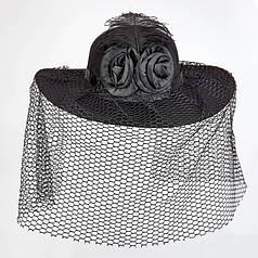 Шляпа Дама в чёрном с вуалью