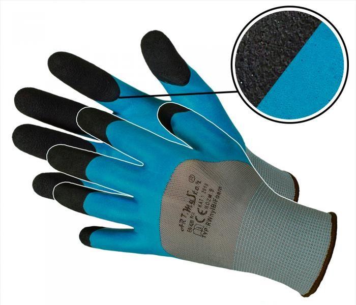 Перчатки защитные Artmas RWNYLBI, черный/синий, 7