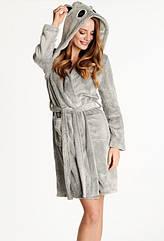 Халат жіночий теплий, сірого кольору. ТМ Henderson. Польща. S.