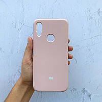 Чехол на Xiaomi Redmi Note 7 Silicone Case пудровый силиконовый / для сяоми редми нот 7, ксяоми ноут ксиоми