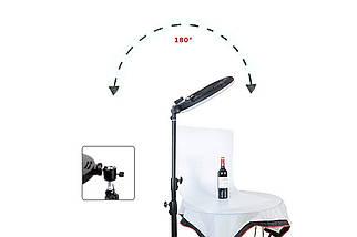 LED Ring Light YQ-480B Кільцеве освітлення для професійної зйомки зі стійкою Кільцева селфі лампа 46 см, фото 3