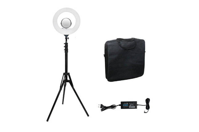LED Ring Light YQ-480B Кільцеве освітлення для професійної зйомки зі стійкою Кільцева селфі лампа 46 см, фото 2