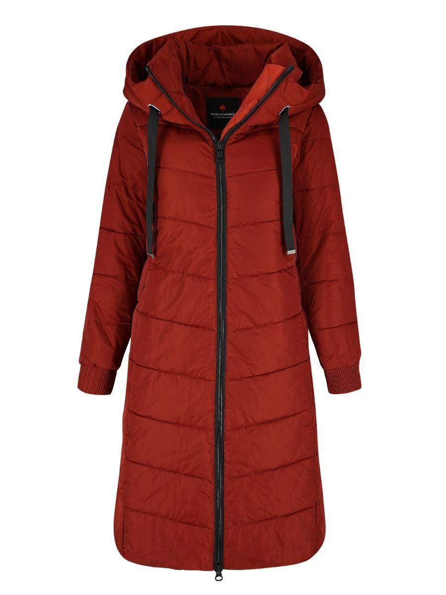 Длинная женская куртка пальто Volcano J-Gulietta L22116-510