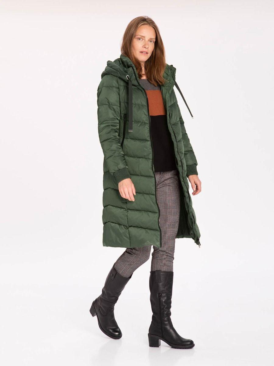 Длиная женская зеленая куртка одеяло Volcano J-Gulietta L22116-302