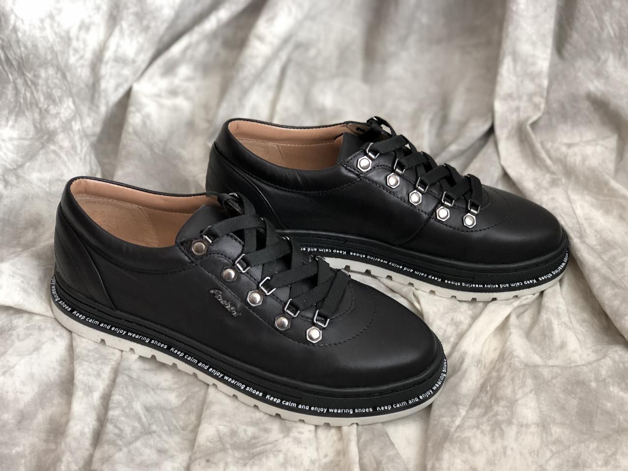 Кожаные женские кроссовки 5028/21 ч/к размеры 36,37,38,39,40