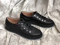 Кожаные женские кроссовки 5028/21 ч/к размеры 36,37,38,39,40, фото 1