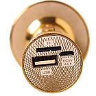 Караоке-мікрофон портативний DM YS-66 5548, золотий, фото 4