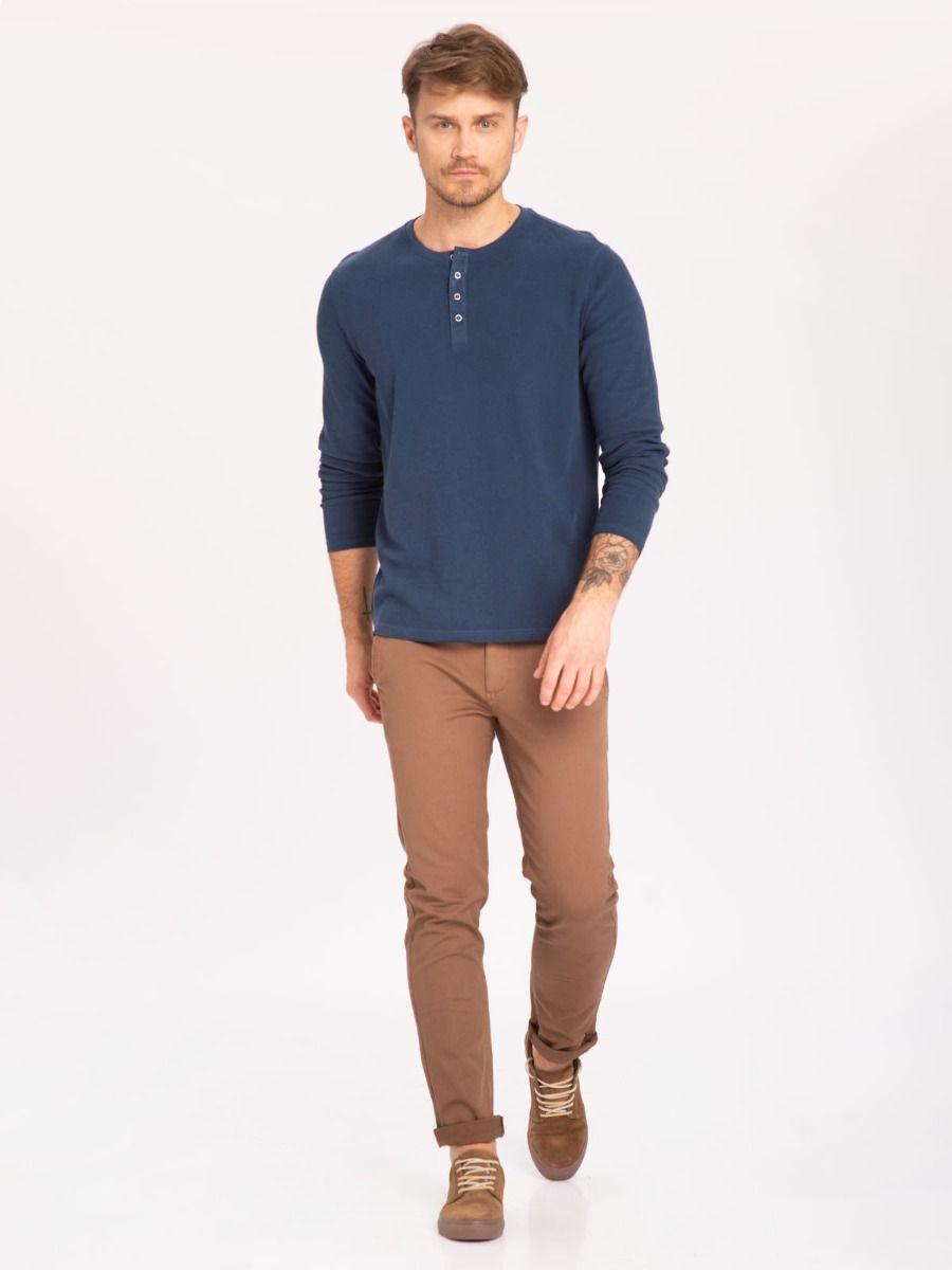 Темно-синяя мужская рубашка с длинным рукавом L - ALASTOR