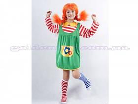 Карнавальный костюм Пеппи Длинный Чулок,