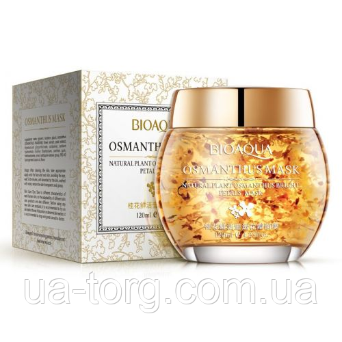 Гелевая маска для лица BIOAQUA Osmanthus Mask Natural Plant Osmanthus Bright Petals Mask с лепестками османтус