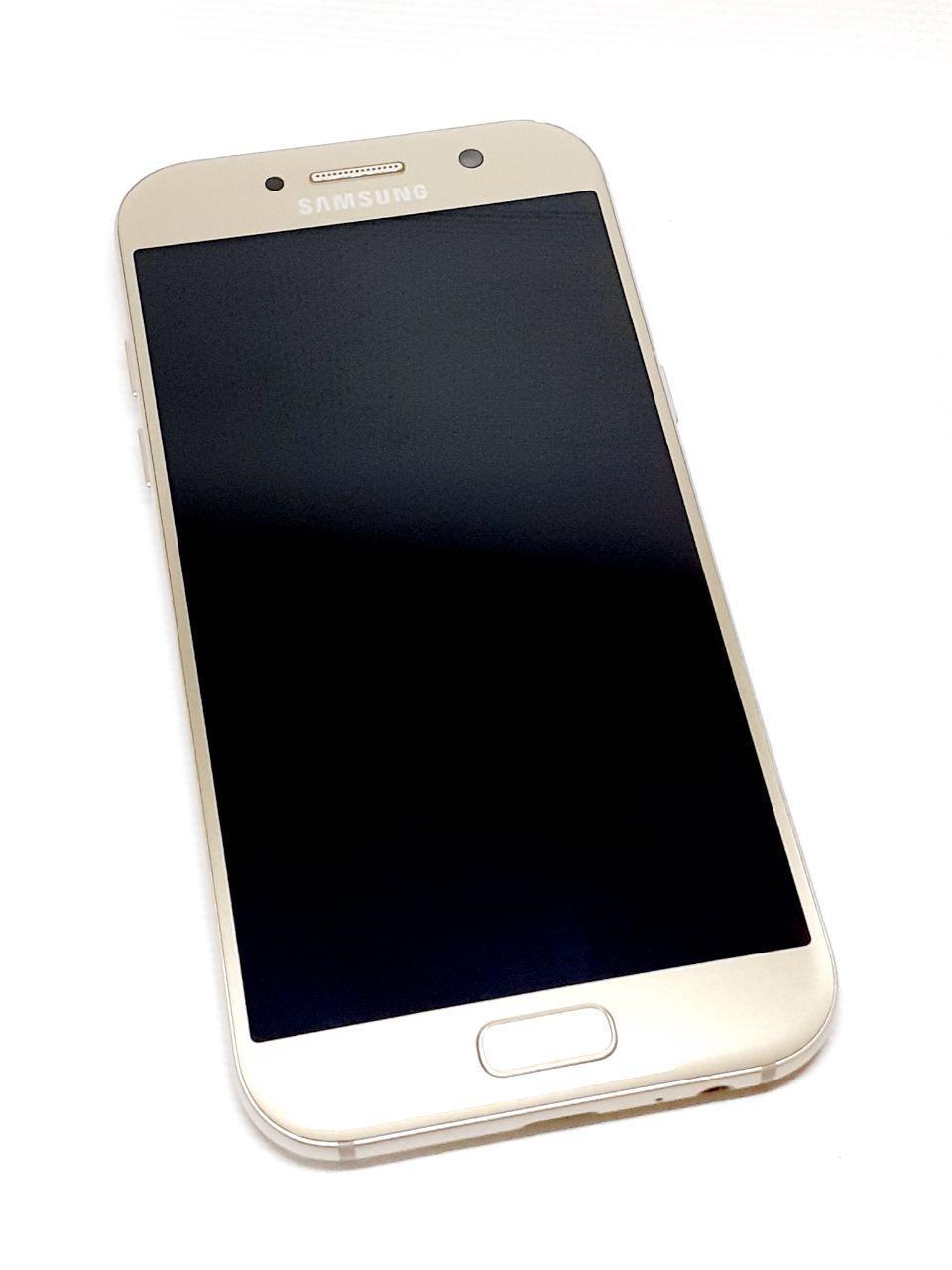 Модуль сенсор и дисплей Gold  Samsung A5 2017 A520F  оригинал б.у.