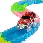 Детский светящийся гибкий трек Magic Tracks 360 деталей на 2 машинки   Детский гоночный трек, фото 4