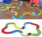 Детский светящийся гибкий трек Magic Tracks 360 деталей на 2 машинки   Детский гоночный трек, фото 3