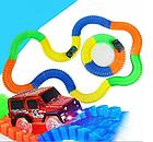 Детский светящийся гибкий трек Magic Tracks 360 деталей на 2 машинки   Детский гоночный трек, фото 5