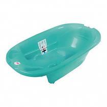 Ванночка Ok Baby Onda 823 Turquoise color 72 анатомическая с горкой, термодатчиком и сливом
