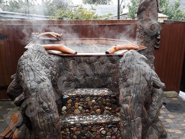 Молодильный чан для купания на дровах для бани