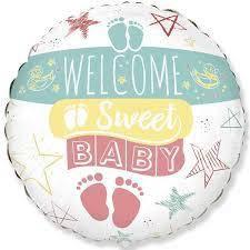 """Воздушный шар Круг Welcom Baby 18""""(45 см)"""