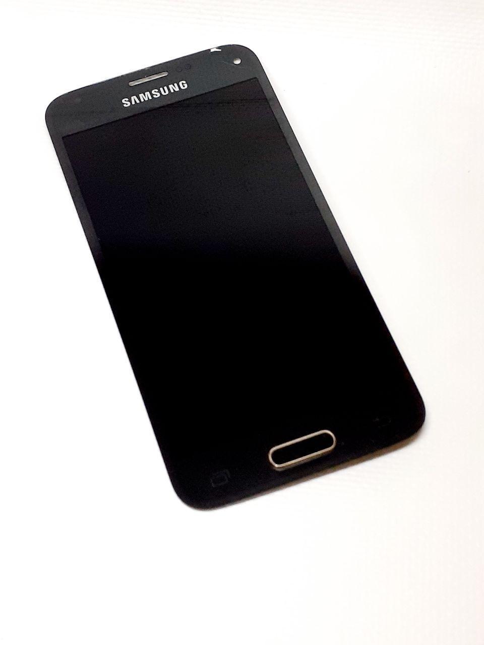 Модуль в сборе сенсор и дисплей Samsung Galaxy S5 Mini  G800F черный оригинал б.у.