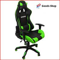 Кресло геймерское Bonro 2018 игровое компьютерное кресло офисное раскладное мягкое профессиональное зеленое
