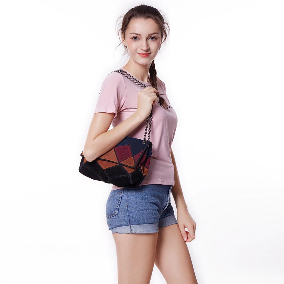 Кожаная женская сумка из натуральной кожи. Сумка клатч женская замшевая Nico Louise (черная) - фото 4