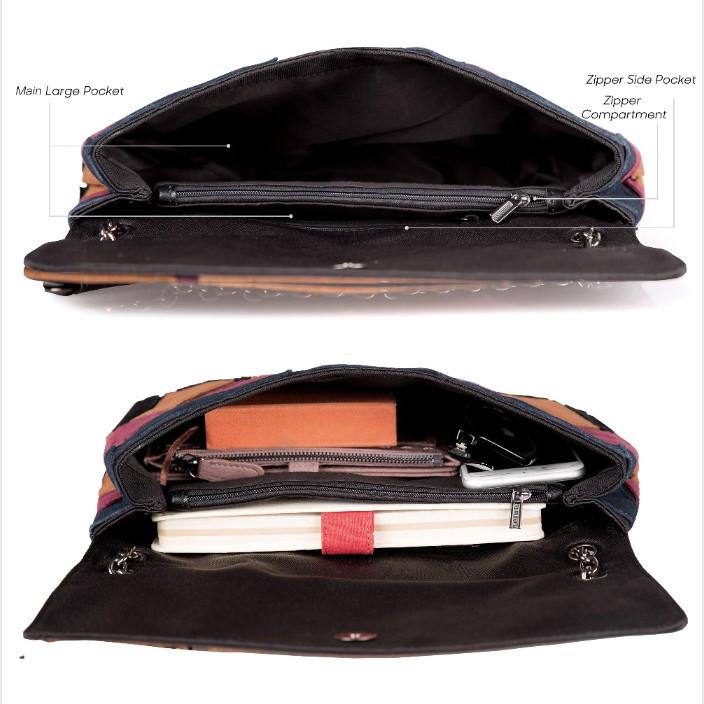 Кожаная женская сумка из натуральной кожи. Сумка клатч женская замшевая Nico Louise (черная) - фото 7