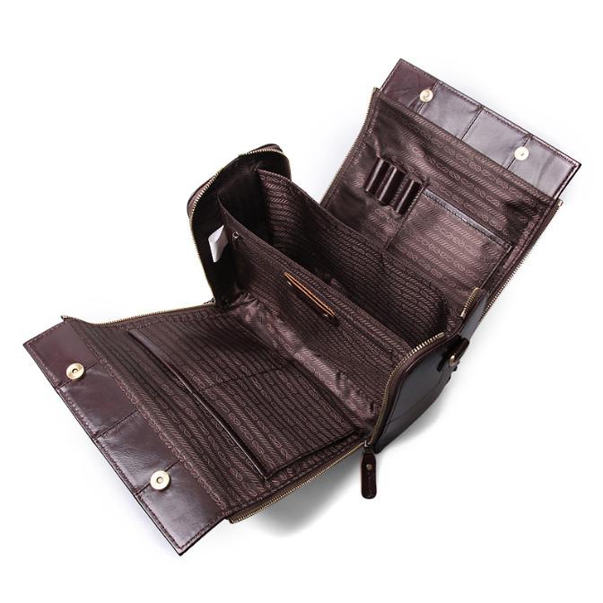 Кожаная женская сумка из натуральной кожи. Сумка женская органайзер кожаная деловая стильная (коричневая) - фото 5