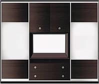 ШКАФ-КУПЕ для гостинной №2 с фасадами из ДСП или зеркала + 2 двери распашные ДСП ТМ Матролюкс 2500