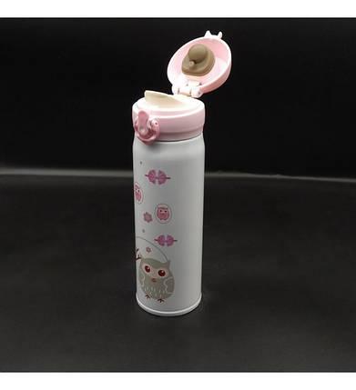 Термос с поильником Совы детская термокружка 500мл, фото 2