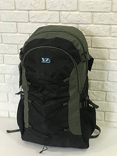 Рюкзак туристичний VA T-09-8 55л, чорний з хакі