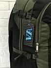 Рюкзак туристичний VA T-09-8 55л, чорний з хакі, фото 4