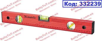 Уровень алюминиевый, 600 мм, 3 глазка, красный, линейка MTX (332239)