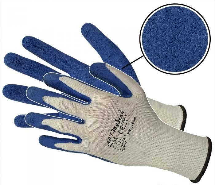 Защитные перчатки Artmas RWnyl Blue 2 kat.1, синий, 8