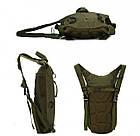 Рюкзак з питною системою B09, олива, фото 4