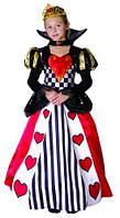 """Карнавальный костюм """"Королева сердец"""", S/M/L (110-140см), платье/воротник/тиара"""