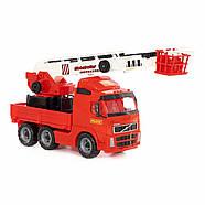 Volvo, автомобиль пожарный (в сеточке) Полесье 8787, фото 5