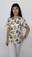 Женский медицинский костюм Шарм принт 46  размеры, фото 1