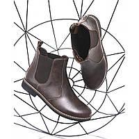 Женские коричневые кожаные челси, фото 1