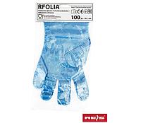 Перчатки полиэтиленовые одноразовые Reis (100 шт/уп) синие