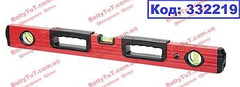 Уровень алюминиевый, 600 мм, фрезерованный, 3 глазка, 2 эргономичные ручки MTX 332219