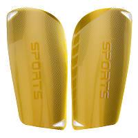 Щитки футбольные SPORTS FB-6848 золотисто-белые (пластик, EVA, L-18х9,5см)