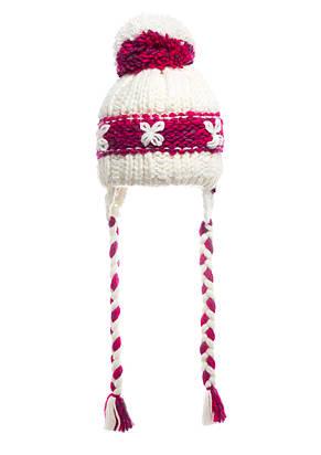 Женская модная вязанная шапка с косами, Польша., фото 2