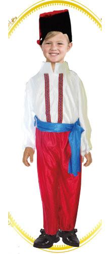 """Карнавальный костюм """"Украинец"""", M/L (120-140см), штаны/рубаха/пояс/шапка"""