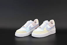 Женские кроссовки Nike Air Force pink beige . ТОП Реплика ААА класса., фото 3