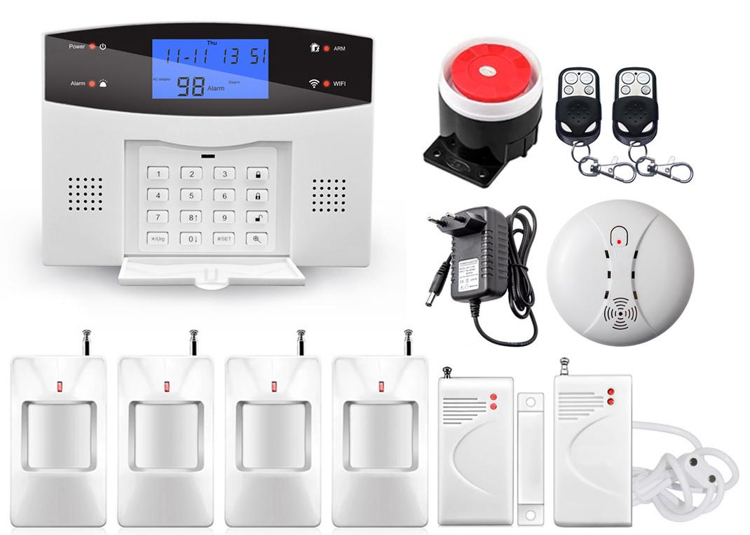Комплект сигнализации Kerui alarm G505 Wi-fi Pro для 3-комнатной квартиры