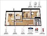 Комплект сигнализации Kerui alarm G505 Wi-fi Pro для 3-комнатной квартиры, фото 2