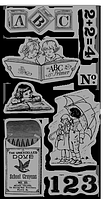 Набор штампов резиновых Cling Stamps ICO124