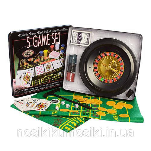 Настольная игра покер 100 фишек, карты, сукно, рулетка 25354 Блек Джек