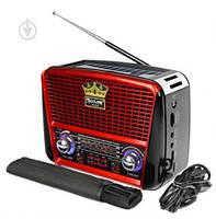 Радио портативная колонка MP3 USB Golon с солнечной панелью Golon RX-456S Solar, радиоприемник, фото 1