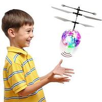 Светящийся летающий шар LED Flying Ball PC398, Индукционная игрушка, детские игрушки летающие, фото 1