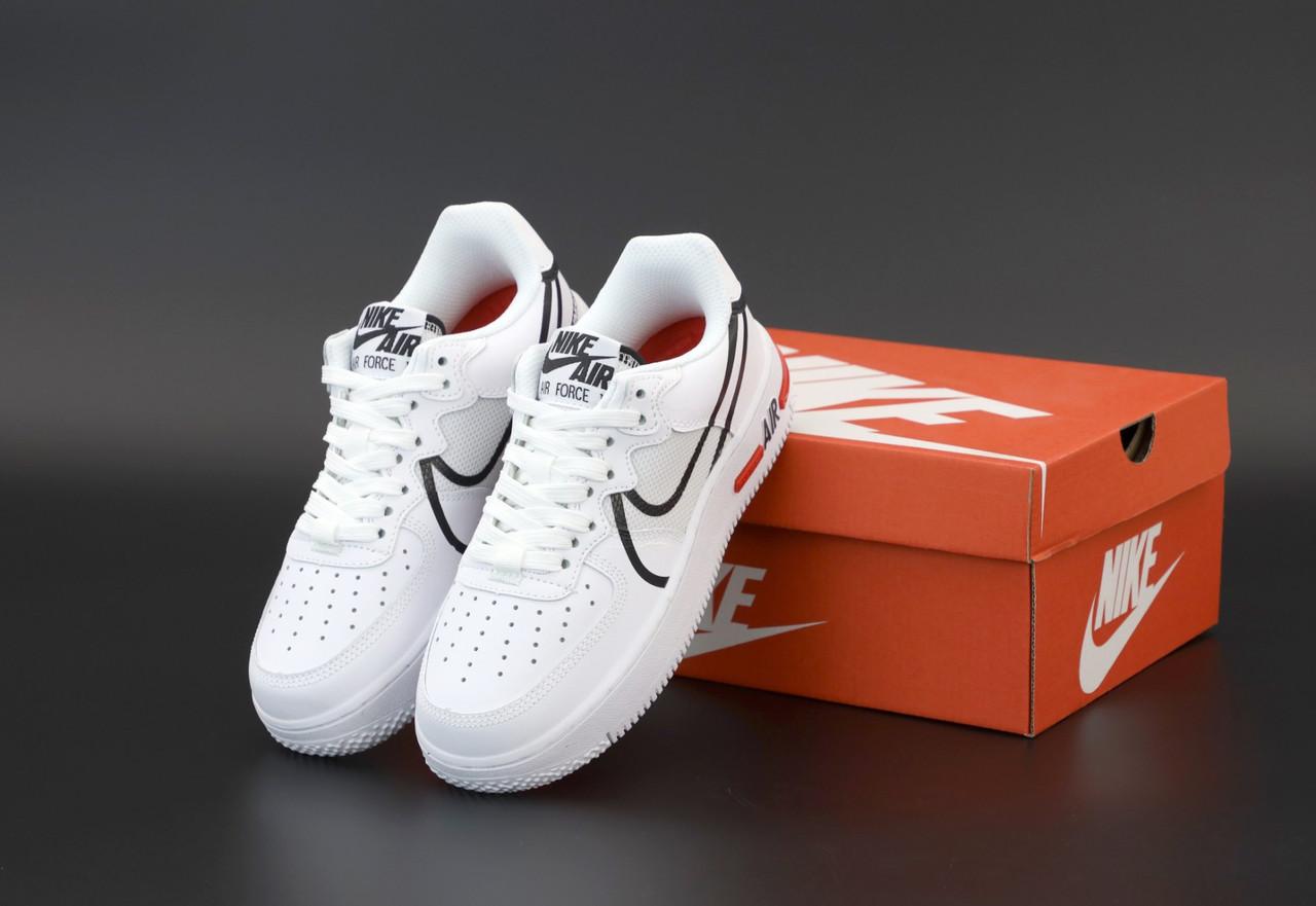 Женские кроссовки Nike Air Force white. ТОП Реплика ААА класса.